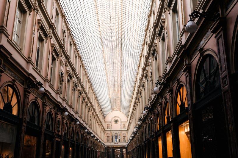 Königliche Galerien des Heiligen Hubert in Brüssel, Belgien stockbild