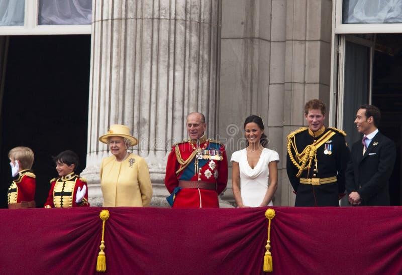 Königliche Hochzeit stockfotografie