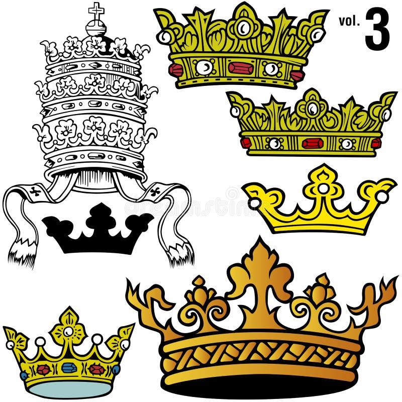 Königliche Kronen vol.3 lizenzfreie abbildung