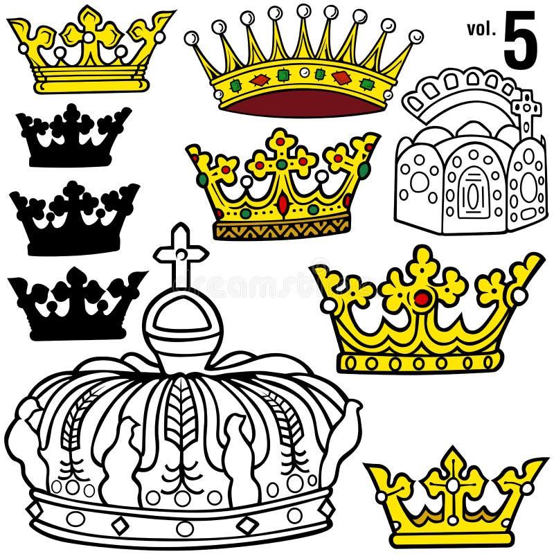 Königliche Kronen vol.5 lizenzfreie abbildung