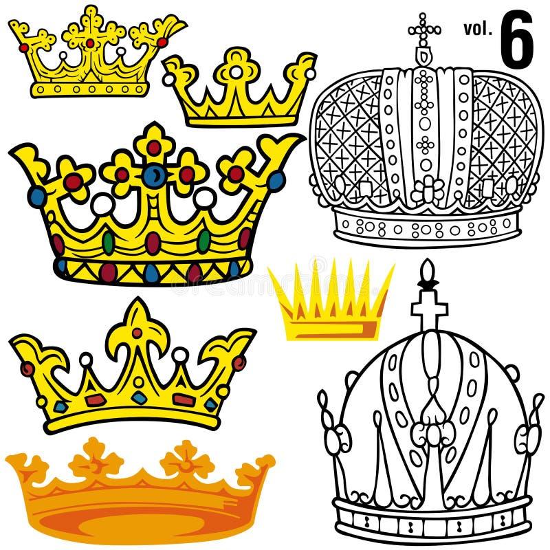 Königliche Kronen vol.6 stock abbildung