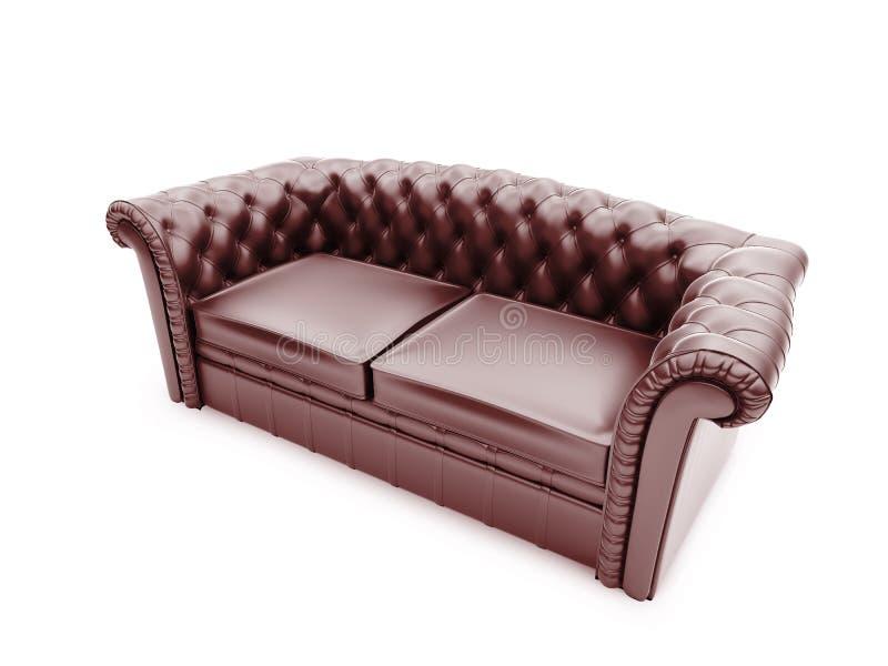 Königliche Möbel getrennte Vorderansicht vektor abbildung