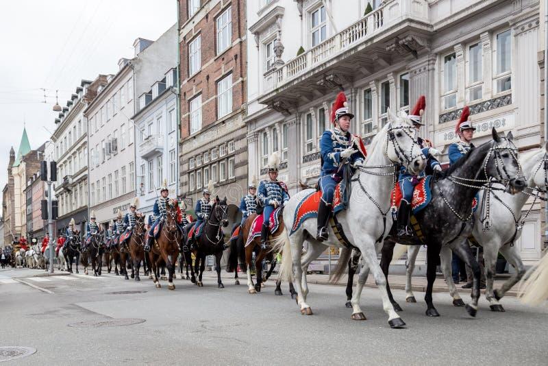 Königliche neues Jahr-Feier in Kopenhagen, Dänemark stockbild