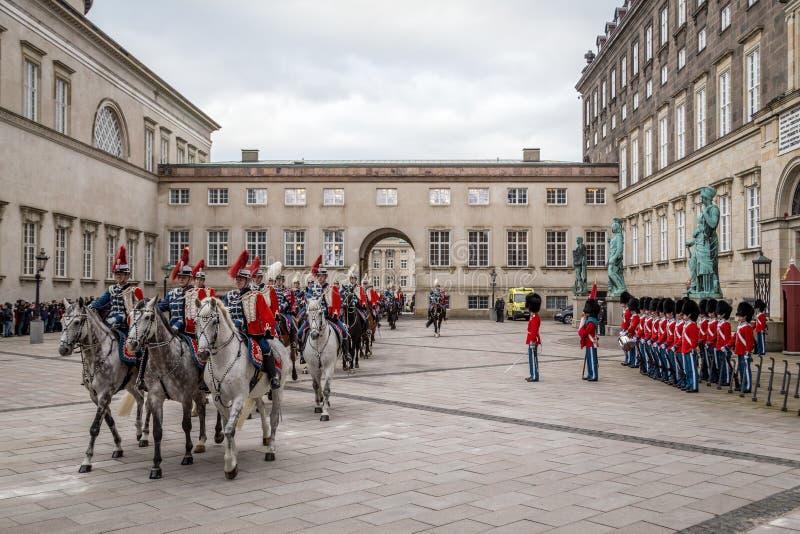 Königliche neues Jahr-Feier in Kopenhagen, Dänemark lizenzfreies stockfoto