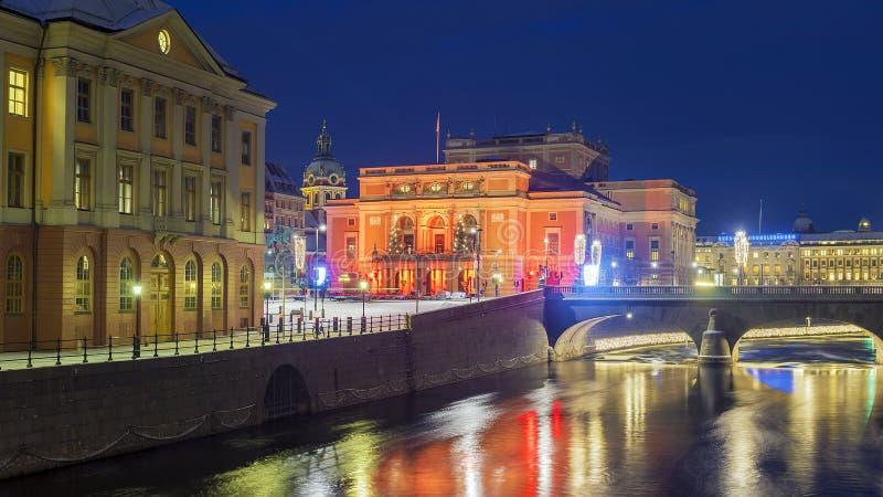 Königliche Oper in Stockholm lizenzfreies stockbild