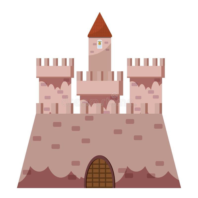 Königliche Schlossikone, Karikaturart stock abbildung