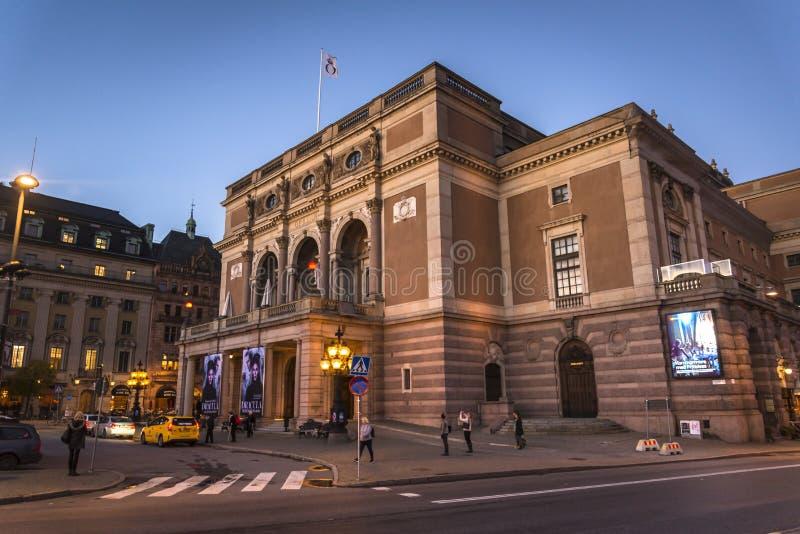 Königliche schwedische Oper, Norrmalm, Stockholm, Schweden stockbilder