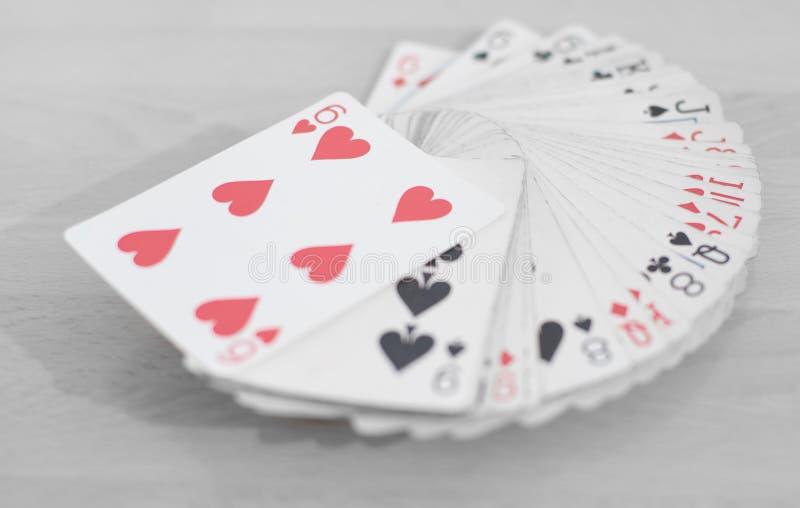 Königliche Spaten des Spielkartekasinoblinkens lizenzfreie stockfotografie