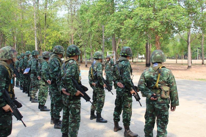Königliche thailändische Armee stockbild
