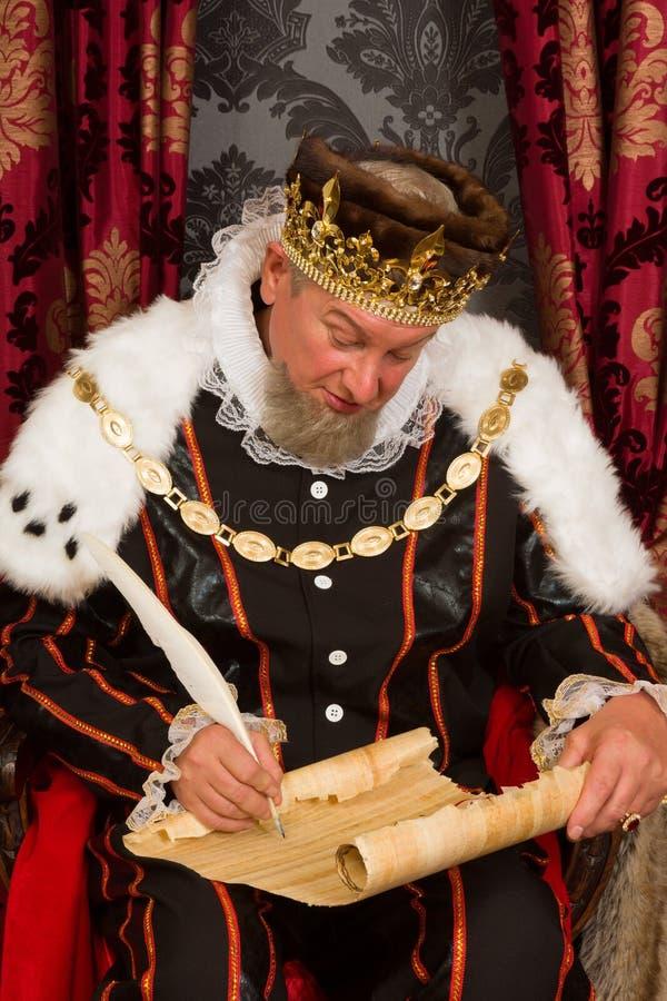 Königliche Unterzeichnung stockfotografie