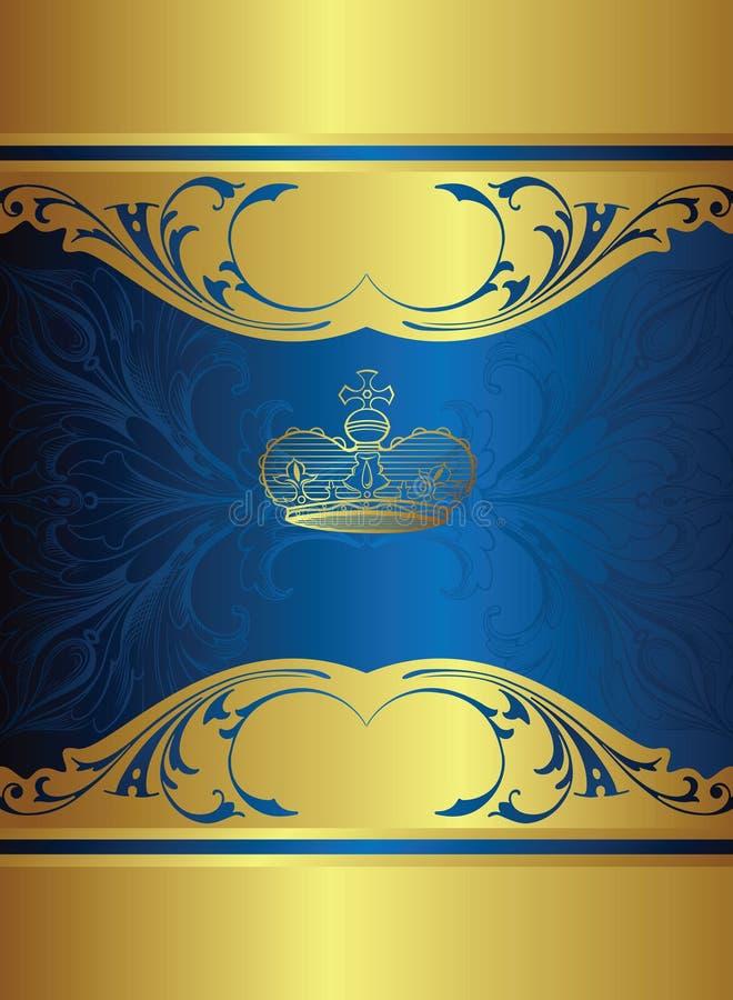 Königlicher Auslegunghintergrund lizenzfreie abbildung