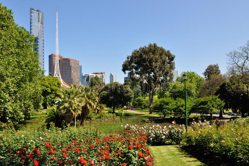 Königlicher botanischer Garten, Melbourne stockfoto
