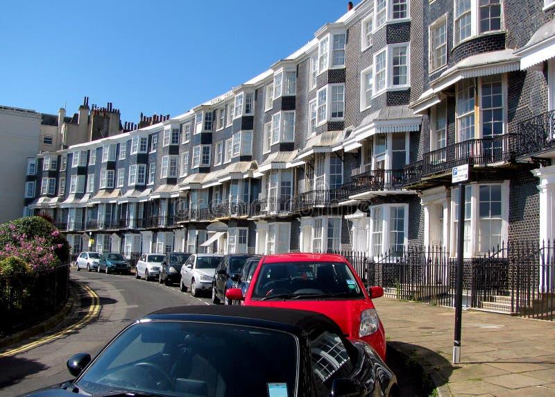 Königlicher Crescent Brighton stockbilder