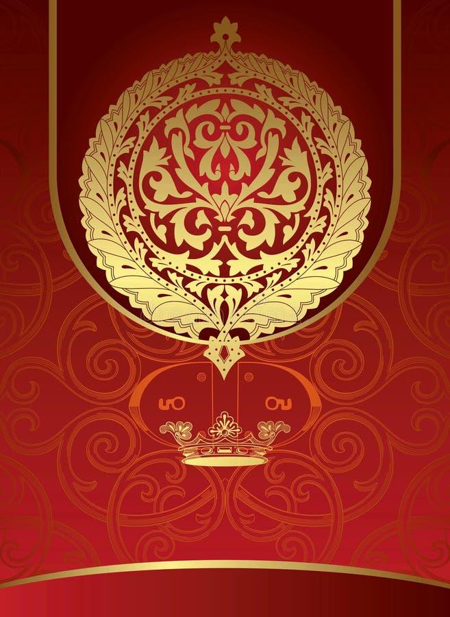Königlicher Hintergrund vektor abbildung