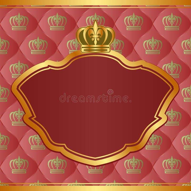 Königlicher Hintergrund stock abbildung