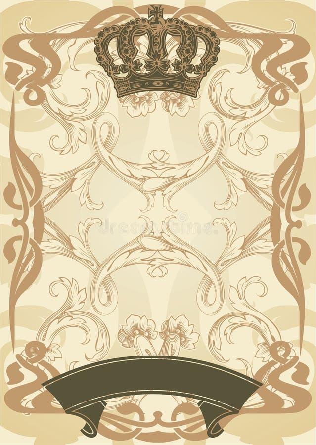 Königlicher Hintergrund der Abbildung vektor abbildung