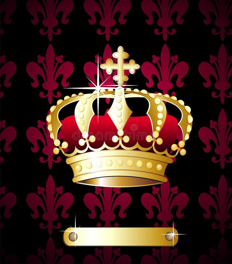 Königlicher Kronenvektor stock abbildung