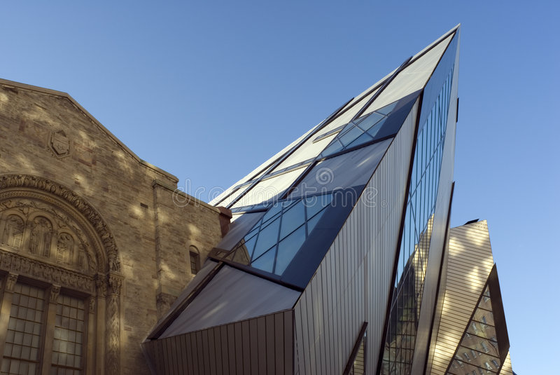 Königlicher Ontario-Museums-Kristall stockbilder