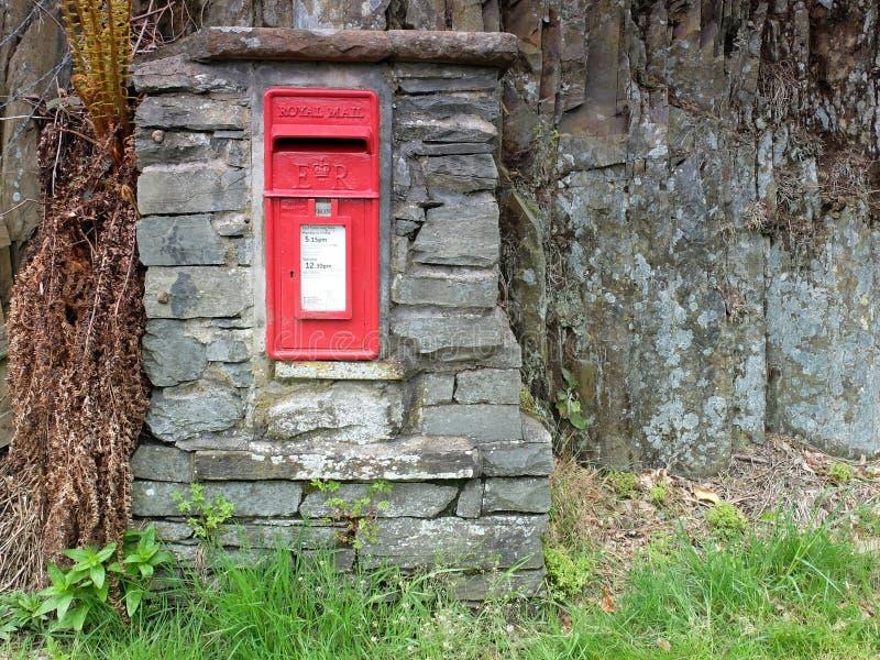 Königlicher Postpfostenkasten lizenzfreie stockbilder