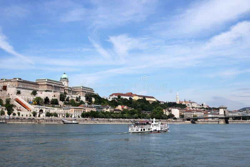 Königlicher Schloss Donau-Flussufer Budapest lizenzfreie stockfotografie