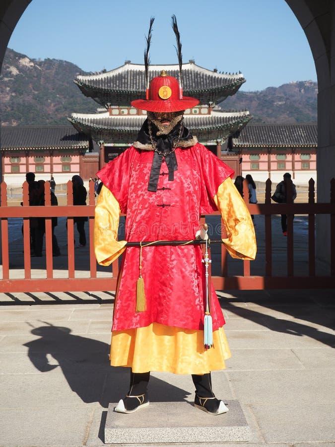 Königlicher Schutz Gyeongbokgung lizenzfreie stockbilder