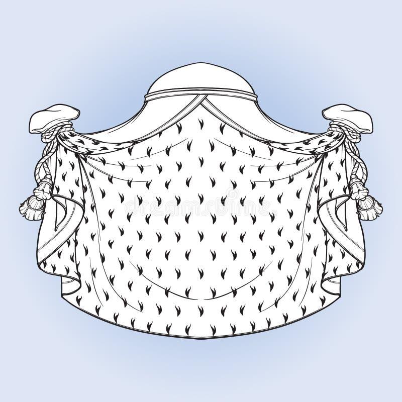 Königlicher Umhang für das Wappen Element für das Entwerfen des Wappens, Logo, Emblem und Tätowierung Rebecca 6 lizenzfreie abbildung
