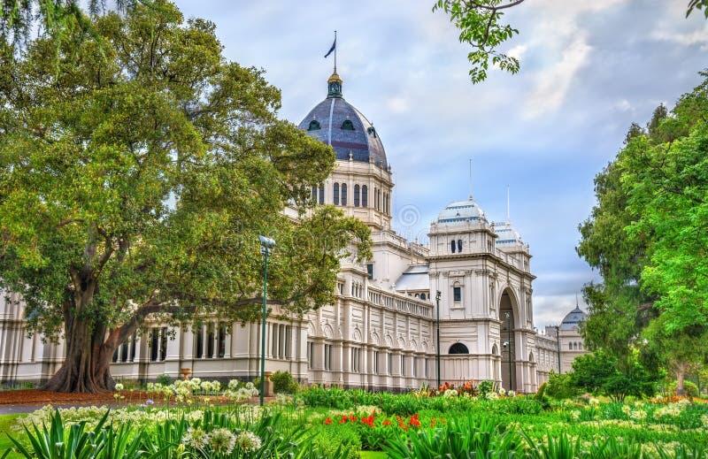 Königliches Ausstellungs-Gebäude, eine UNESCO-Welterbestätte in Melbourne, Australien stockfotografie