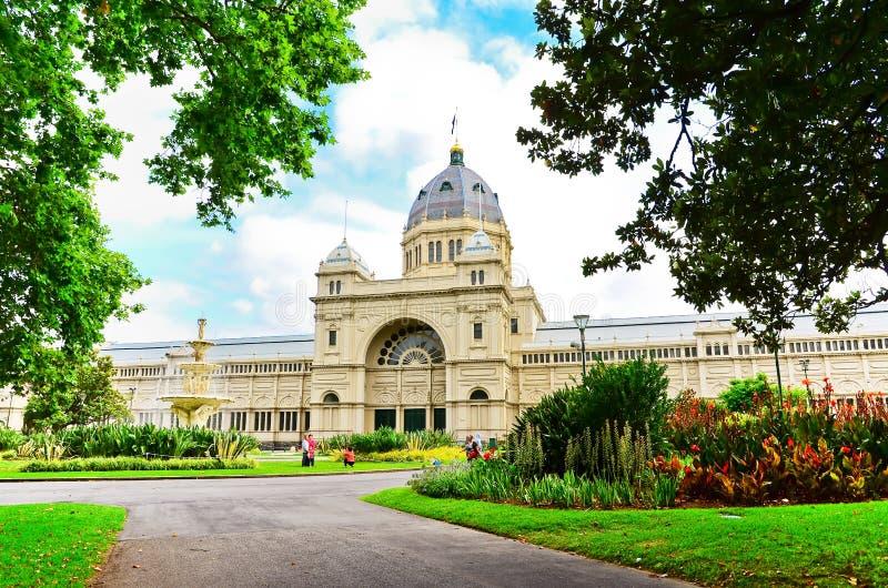 Königliches Ausstellungs-Gebäude in Melbourne stockfotos