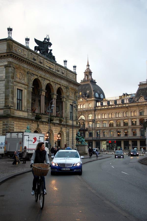 Königliches dänisches Theater, Kopenhagen, Dänemark lizenzfreies stockfoto