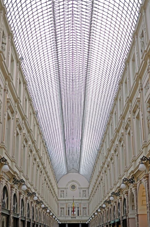 Königliches Galeries des Heiligen Hubert Brüssel Belgien stockbilder
