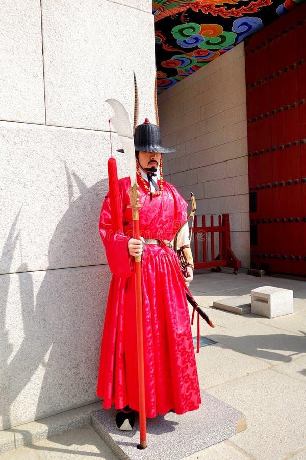 Königliches Gard an Gyeongbokgungs-Palast lizenzfreie stockfotos