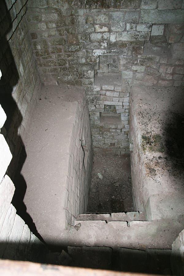 Königliches Grab Copan stockfotos