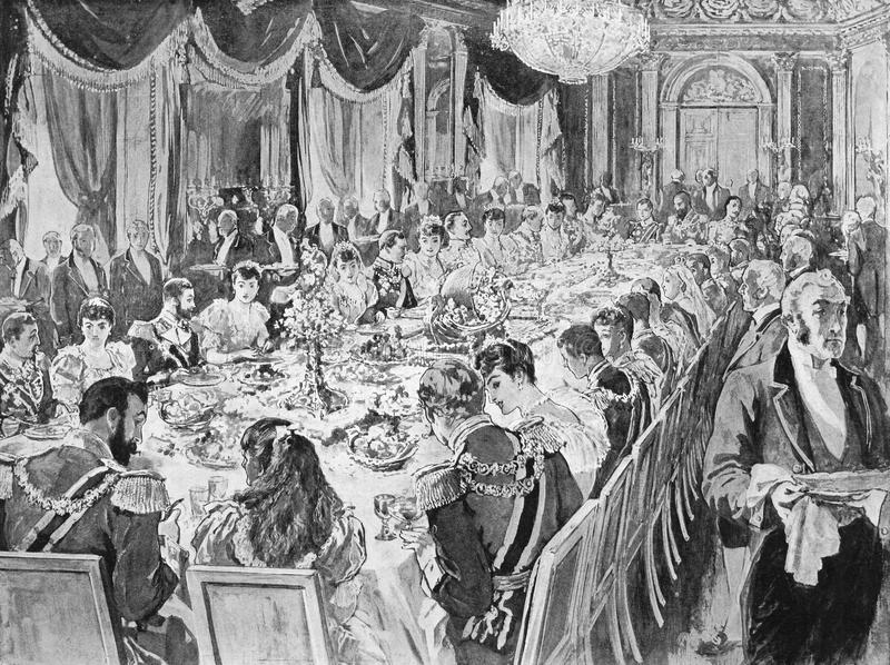 Königliches Hochzeits-Frühstück stockfotografie