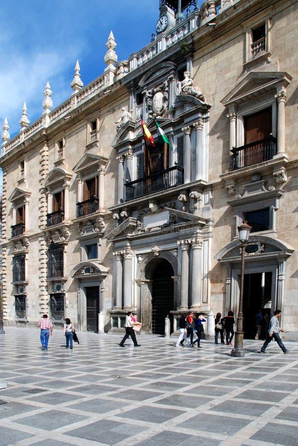 Königliches Kanzleigericht, Granada lizenzfreies stockbild