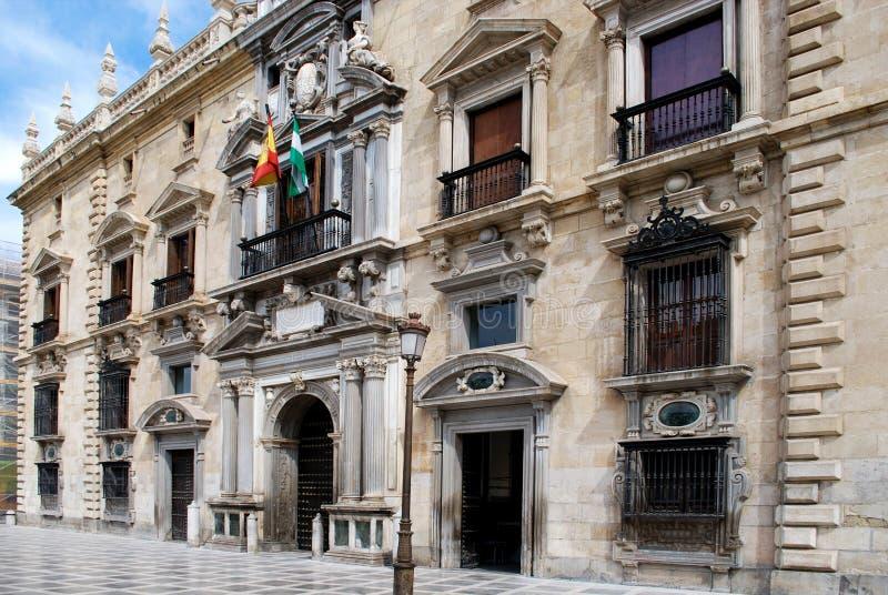 Königliches Kanzleigericht, Granada stockbilder