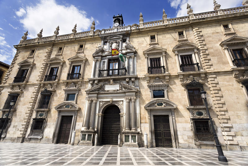Königliches Kanzleigericht Granadas stockfotos
