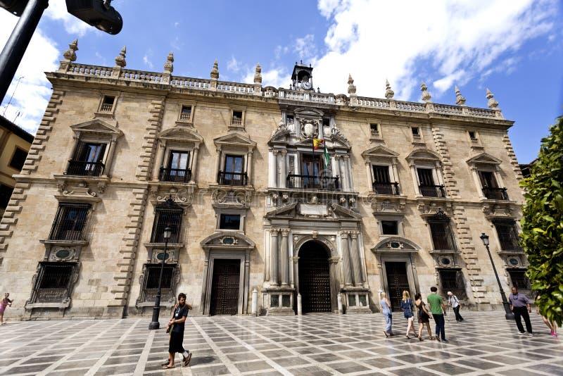 Königliches Kanzleigericht Granadas stockfotografie