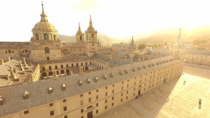 Königliches Kloster von San Lorenzo de El Escorial stockfoto