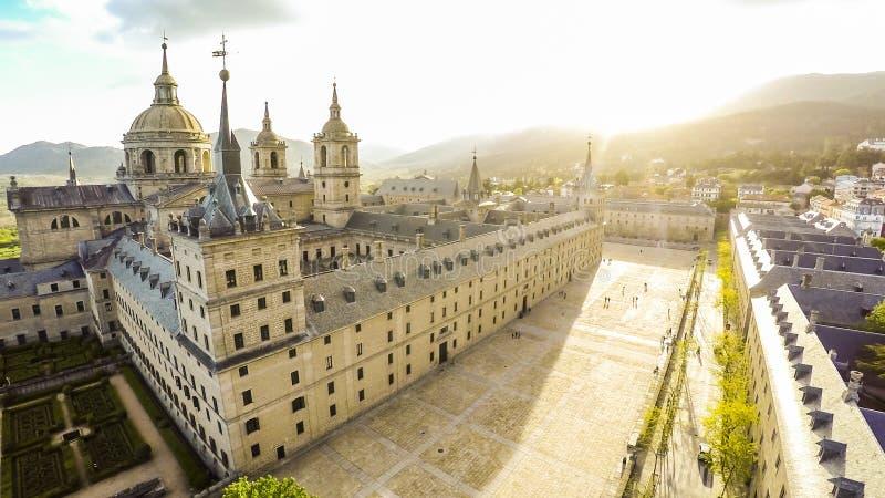 Königliches Kloster von San Lorenzo de El Escorial stockbild