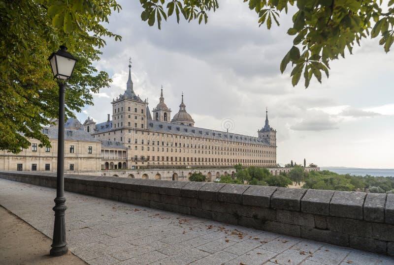 Königliches Kloster von San Lorenzo de El Escorial, Madrid-Gemeinschaft, lizenzfreies stockbild