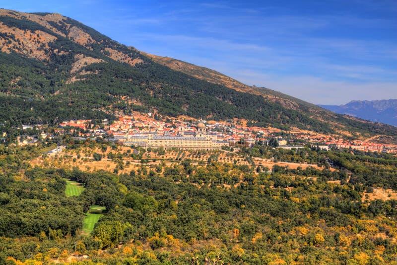 Königliches Kloster von San Lorenzo de El Escorial, Madrid, Spanien lizenzfreies stockbild