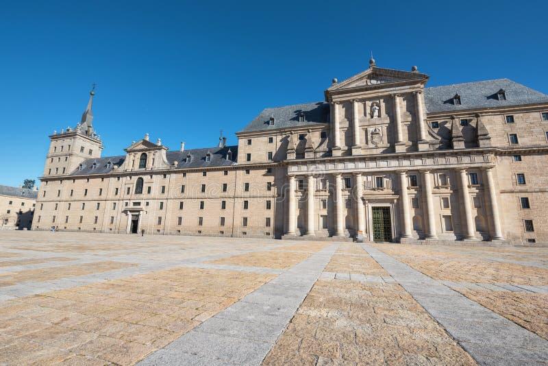 Königliches Kloster von San Lorenzo de El Escorial, Madrid, Spanien stockfotos