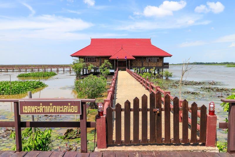Königliches Landhaus Thale Noi in Phatthalungs-Provinz, Thailand stockbilder