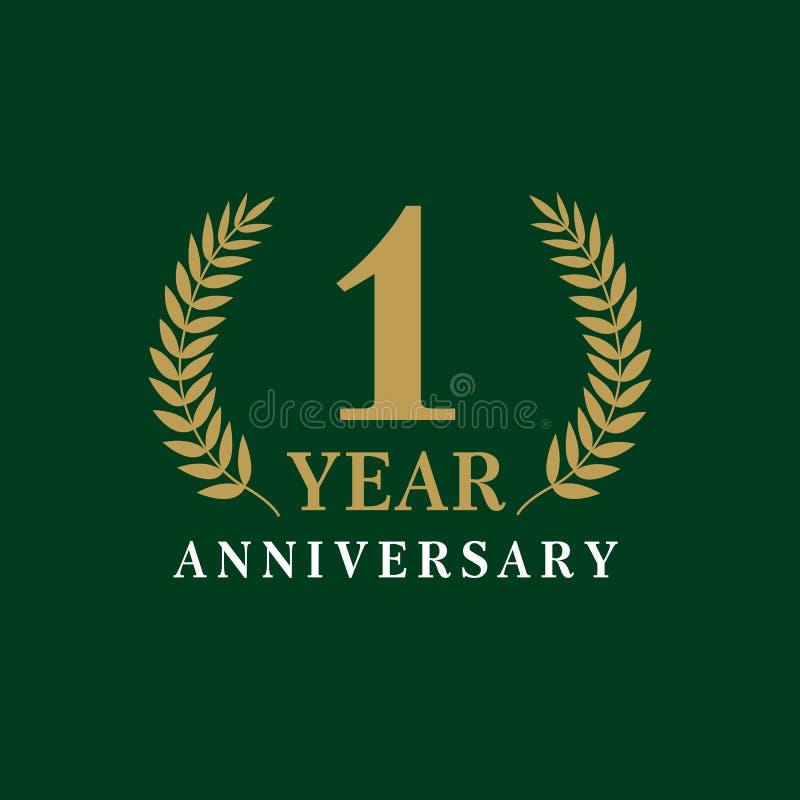 Königliches Logo des 1-jährigen Jahrestages lizenzfreie abbildung