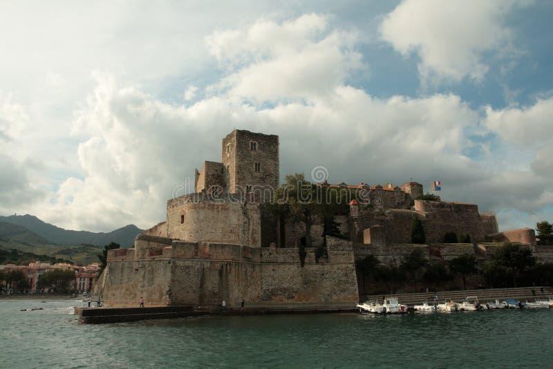 Königliches Schloss von Collioure in Frankreich stockfoto