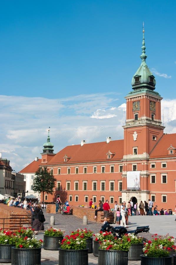 Königliches Schloss in Warschau stockfotos