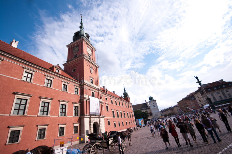 Königliches Schloss in Warschau lizenzfreie stockfotos