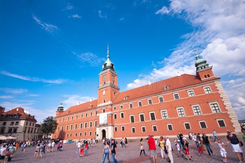 Königliches Schloss in Warschau lizenzfreie stockbilder