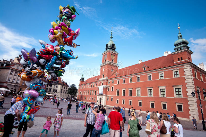 Königliches Schloss in Warschau lizenzfreie stockfotografie