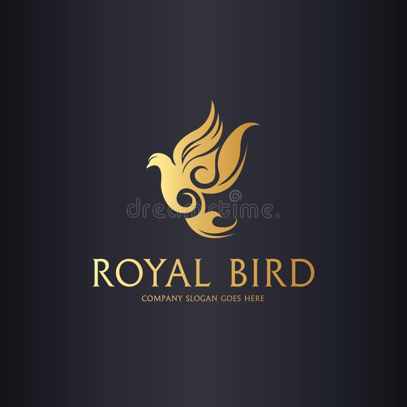 Königliches Tauben-Logo lizenzfreie abbildung